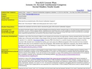 Lesson 11: Second Continental Congress Lesson Plan