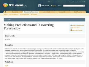 Foreshadowing and Making Predictions Lesson Plan