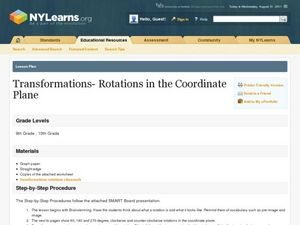 Transformations - Rotations in the Coordinate Plane Lesson Plan