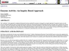 Enzyme Activity: An Inquiry Based Approach Lesson Plan