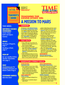 A Mission to Mars Lesson Plan