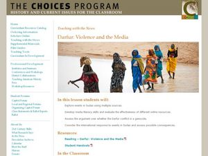 Darfur: Violence and the Media Lesson Plan