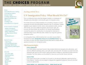 US Immigration Policy: What Should We Do? Lesson Plan