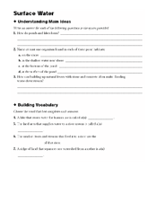 surface water groundwater worksheet for 5th 8th grade lesson planet. Black Bedroom Furniture Sets. Home Design Ideas