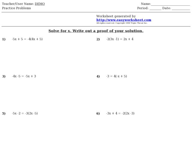Algebraic Proof Worksheet Katinabags – Algebraic Proofs Worksheet