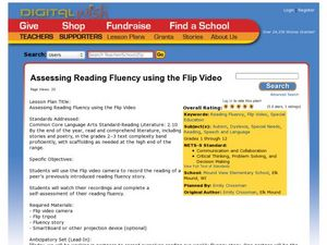 Assessing Reading Fluency Using the Flip Video Lesson Plan