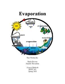 Evaporation Lesson Plan
