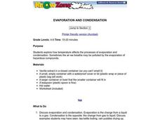 Evaporation and Condensation Lesson Plan