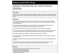 A Novel Idea Lesson Plan