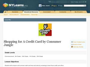 Shopping for a Credit Card Lesson Plan
