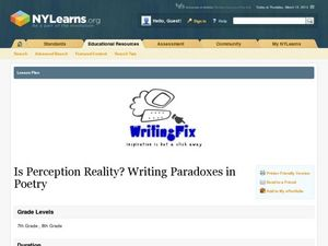 Is Perception Reality? Writing Paradoxes in Poetry Lesson Plan