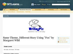 Same Theme, Different Story Using Fox by Margaret Wild Lesson Plan