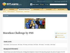 Marathon Challenge by PBS Lesson Plan