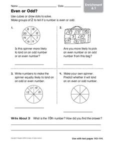 Even or Odd? Worksheet