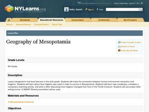 "an overview of the geography of mesopotamia Geography of ancient mesopotamia summary mesopotamia is known as the ""land between two rivers"" which are the tigris and euphrates rivers."