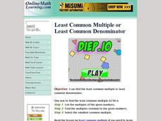 Least Common Multiple or Least Common Denominator Interactive