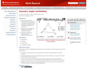 Angles and Similarity Lesson Plan