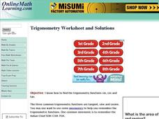 Trigonometry Worksheets Interactive