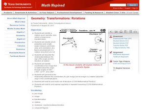 Transformations and Rotations Lesson Plan