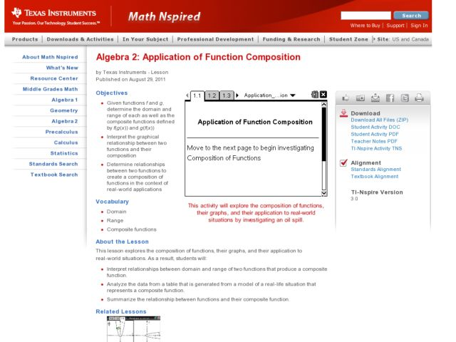 Application of Function Composition Lesson Plan