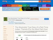 The Absolutely True Diary of a Part-Time Indian: Themes Quiz Interactive