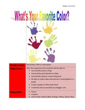 What's Your Favorite Color? Lesson Plan