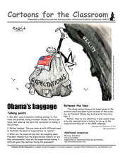 Cartoons for the Classroom: Obama Baggage Worksheet