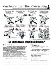 Cartoons for the Classroom: Midterm Elections of 2010 Worksheet