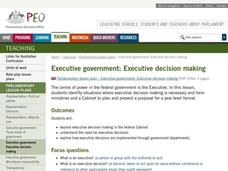 Executive Government: Executive Decision Making Lesson Plan