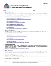 Cassatt Mini-Webquest and Report Lesson Plan