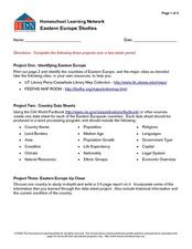 Eastern European Studies Worksheet