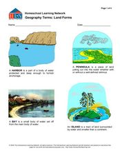 Geography Terms: Land Forms Worksheet