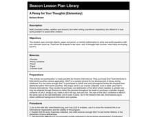 A Penny for Your Thoughts Lesson Plan