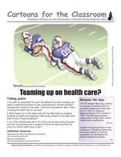 Cartoons for the Classroom: Teaming up on Health Care? Worksheet