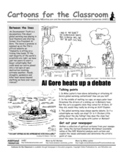 Cartoons for the Classroom: Al Gore Heats up a Debate Worksheet