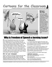 Cartoons for the Classroom: Why is Freedom of Speech a Burning Issue? Worksheet