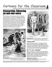 Cartoons for the Classroom: Censorship, Silencing an Anti-War Voice Worksheet