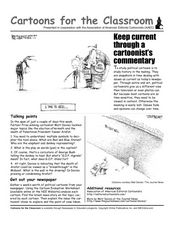 Cartoons for the Classroom: Keep Current Through a Cartoonist's Commentary Worksheet