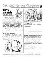Cartoons in the Classroom: Party Animals Worksheet