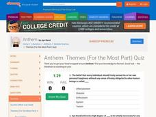 Anthem: Themes (For the Most Part) Quiz Interactive