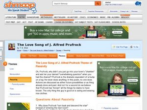 The Love Song of J. Alfred Prufrock Theme of Passivity Worksheet