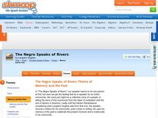 the negro speaks of rivers by langston hughes summary