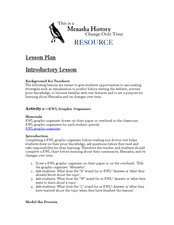 Menasha History: Change Over Time Lesson Plan