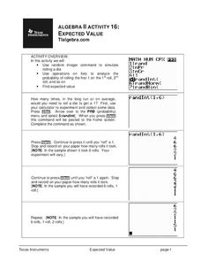 Expected Value Lesson Plan
