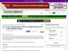 Experiences of the Civil Rights Movement: A Roundtable Project Lesson Plan