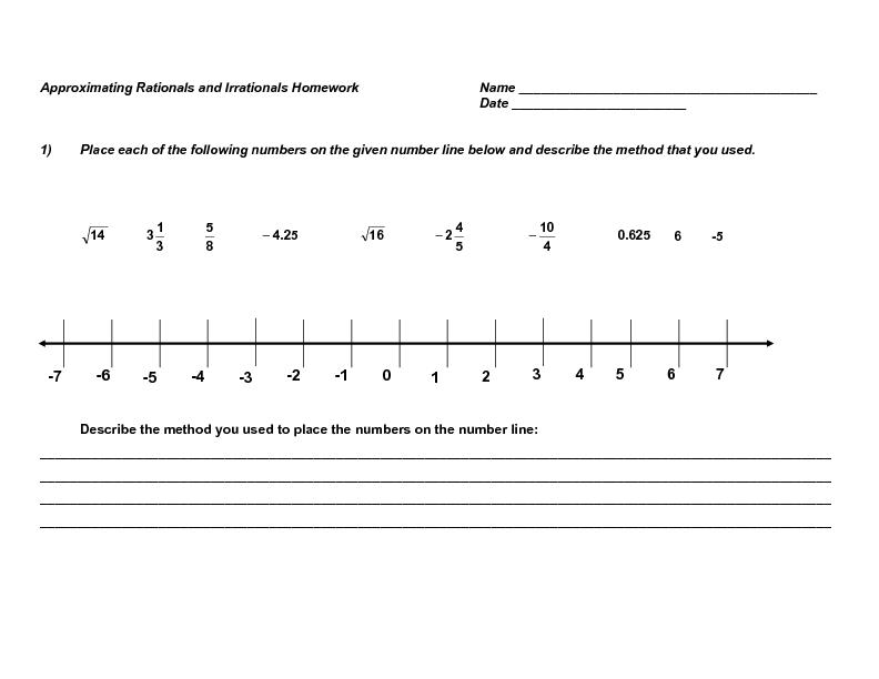 Placing Numbers On A Number Line Worksheet - Worksheet List