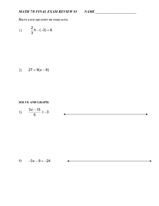Order Operations Pre-Algebra Worksheet | Pre-Algebra Worksheets ...