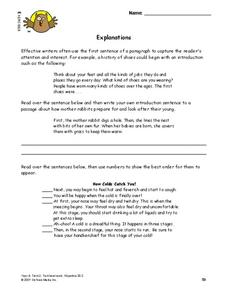 Explanations Lesson Plan