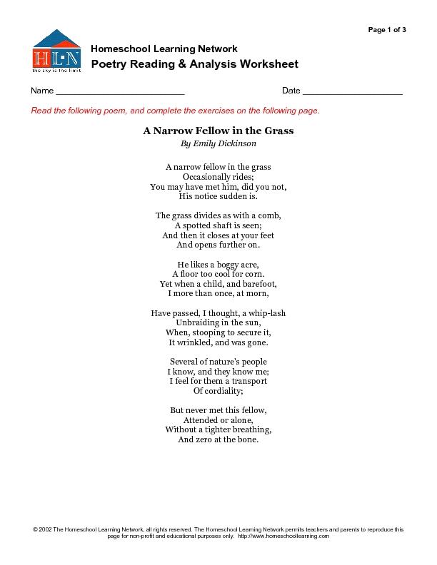 grass poem analysis