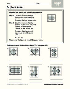 Explore Area: Reteach Worksheet
